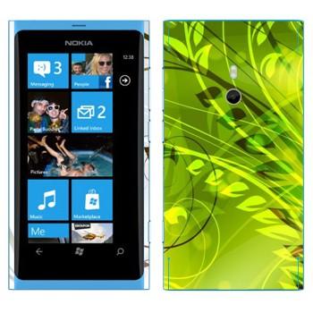 Виниловая наклейка «Зеленые растения» на телефон Nokia Lumia 800