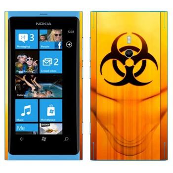 Виниловая наклейка «Значок Биологическая угроза» на телефон Nokia Lumia 800