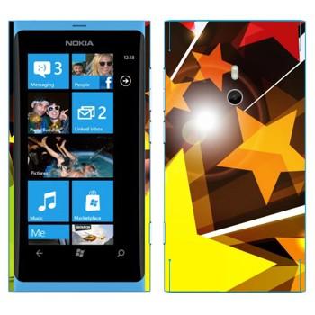 Виниловая наклейка «Звезды разлетаются» на телефон Nokia Lumia 800