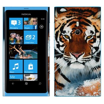 Виниловая наклейка «Амурский тигр» на телефон Nokia Lumia 800