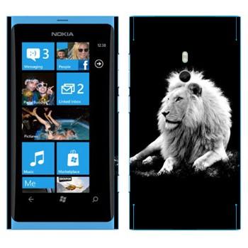 Виниловая наклейка «Белый лев» на телефон Nokia Lumia 800