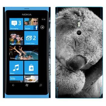 Виниловая наклейка «Коала спит» на телефон Nokia Lumia 800