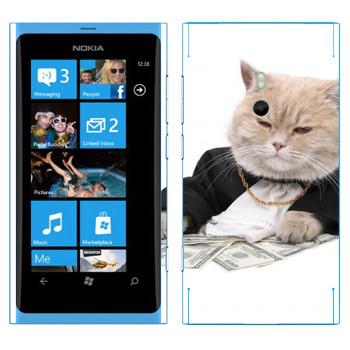 Виниловая наклейка «Котобосс» на телефон Nokia Lumia 800