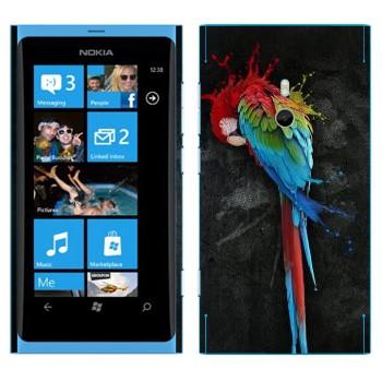 Виниловая наклейка «Попугай Ара» на телефон Nokia Lumia 800