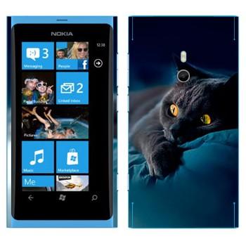 Виниловая наклейка «Серая кошка» на телефон Nokia Lumia 800