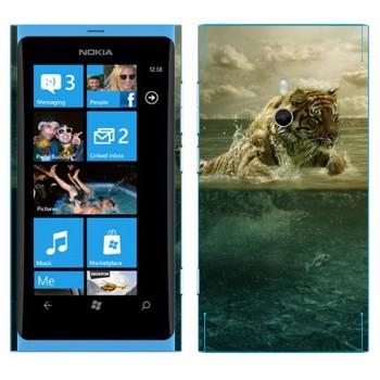 Виниловая наклейка «Тигр Ричард Паркер - Жизнь Пи» на телефон Nokia Lumia 800