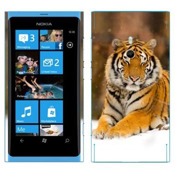 Виниловая наклейка «Уссурийский тигр» на телефон Nokia Lumia 800