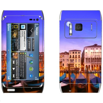Виниловая наклейка «Гондолы - Венеция» на телефон Nokia N8
