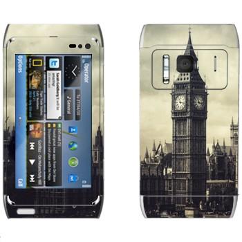 Виниловая наклейка «Лондонский Биг Бен» на телефон Nokia N8