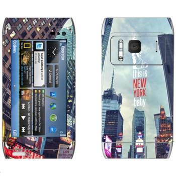Виниловая наклейка «Нью-Йорк Таймс-сквер» на телефон Nokia N8