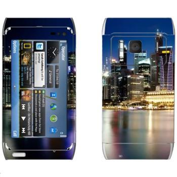 Виниловая наклейка «Ночной Нью-Йорк» на телефон Nokia N8