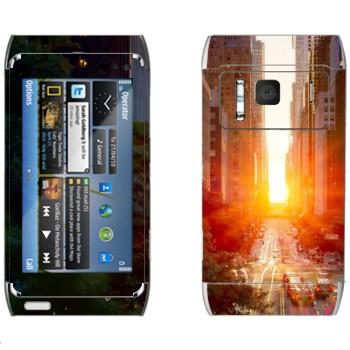 Виниловая наклейка «Нью-Йорк» на телефон Nokia N8
