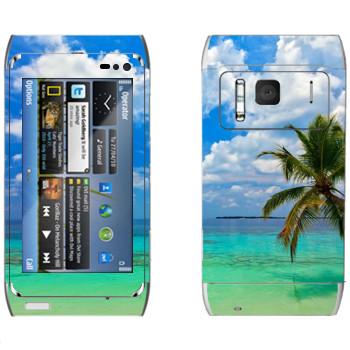 Виниловая наклейка «Побережье Майами» на телефон Nokia N8