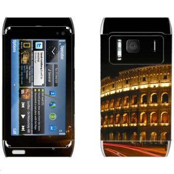 Виниловая наклейка «Римский Колизей ночью» на телефон Nokia N8
