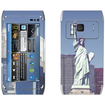 Виниловая наклейка «Статуя Свободы  - Нью-Йорк» на телефон Nokia N8