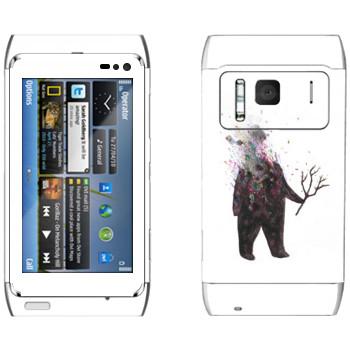 Виниловая наклейка «Kisung Treeman» на телефон Nokia N8