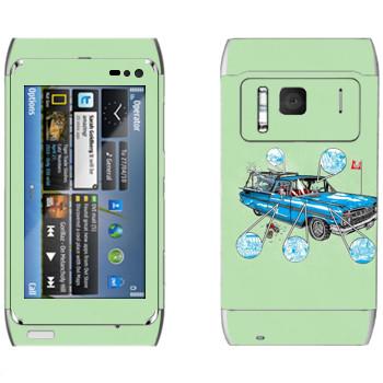 Виниловая наклейка «Sea Also Rises - Camino Cats - by Doyle» на телефон Nokia N8