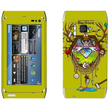 Виниловая наклейка «Алмазы Oblivion» на телефон Nokia N8