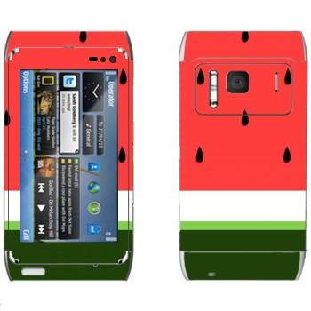 Виниловая наклейка «Арбуз в разрезе» на телефон Nokia N8