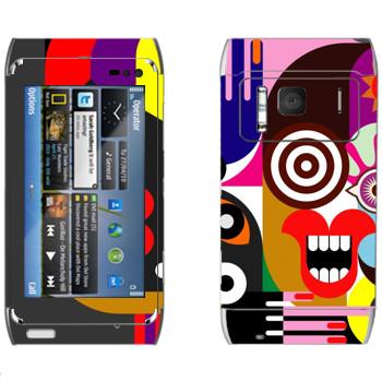 Виниловая наклейка «Арт» на телефон Nokia N8
