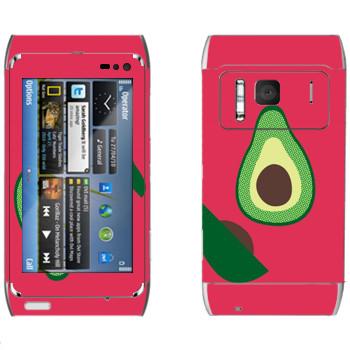 Виниловая наклейка «Авокадо - Georgiana Paraschiv» на телефон Nokia N8