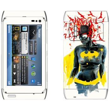 Виниловая наклейка «Бэтгёл» на телефон Nokia N8