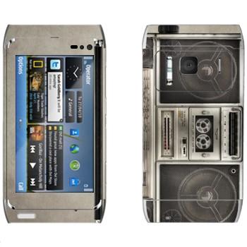Виниловая наклейка «Бумбокс кассетный» на телефон Nokia N8