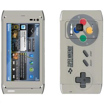 Виниловая наклейка «Джойстик Super Nintendo» на телефон Nokia N8