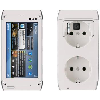 Виниловая наклейка «Двойная розетка» на телефон Nokia N8