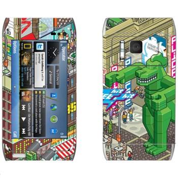 Виниловая наклейка «eBoy - Берлин» на телефон Nokia N8
