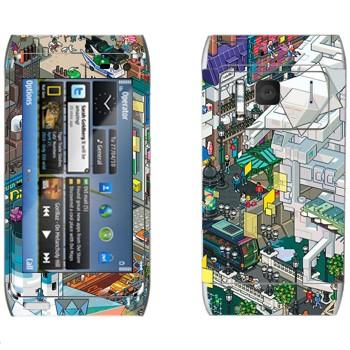 Виниловая наклейка «eBoy - Париж» на телефон Nokia N8