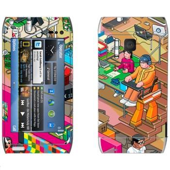 Виниловая наклейка «eBoy - студия» на телефон Nokia N8
