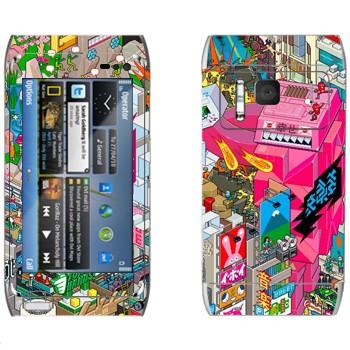 Виниловая наклейка «eBoy - Токио» на телефон Nokia N8