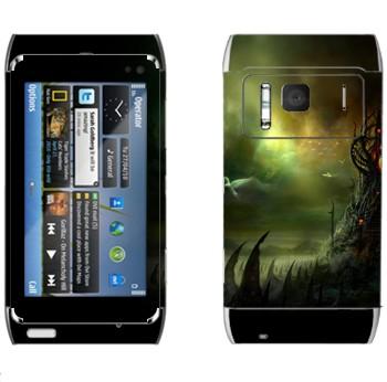 Виниловая наклейка «Где обитает страх» на телефон Nokia N8