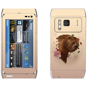 Виниловая наклейка «Гризли - Kisung» на телефон Nokia N8