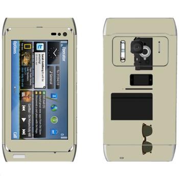 Виниловая наклейка «Хипстерский набор» на телефон Nokia N8
