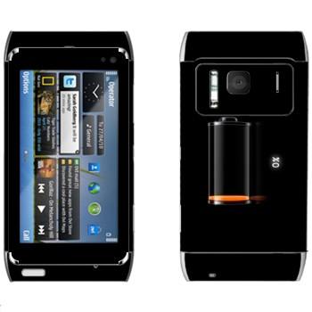 Виниловая наклейка «Индикатор низкий заряд батареи» на телефон Nokia N8