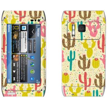 Виниловая наклейка «Кактусы - Anna Deegan» на телефон Nokia N8
