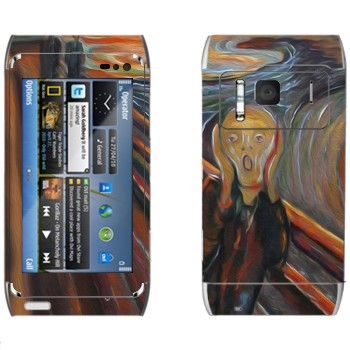 """Виниловая наклейка «Картина Эдварда Мунка """"Крик""""» на телефон Nokia N8"""