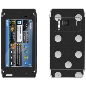 Виниловая наклейка «Кость домино» на телефон Nokia N8