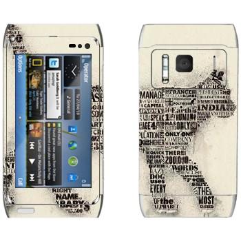 Виниловая наклейка «Кот из газетных заголовков» на телефон Nokia N8