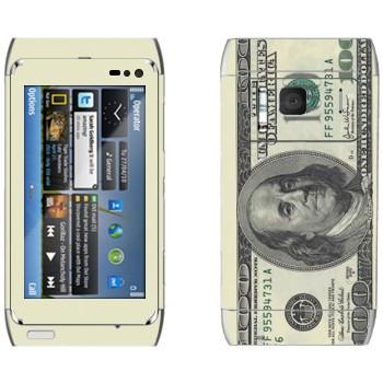 Виниловая наклейка «Купюра сто долларов» на телефон Nokia N8