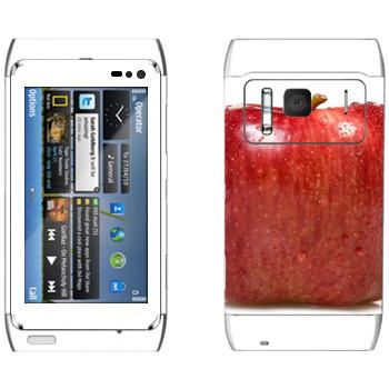 Виниловая наклейка «Квадратное яблоко» на телефон Nokia N8