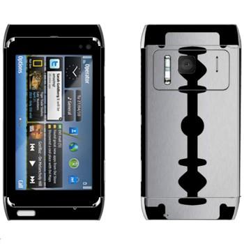 Виниловая наклейка «Лезвие» на телефон Nokia N8