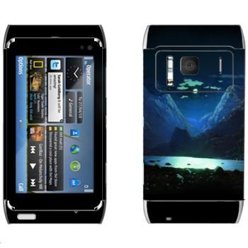 Виниловая наклейка «Лунная ночь - Архип Куинджи» на телефон Nokia N8