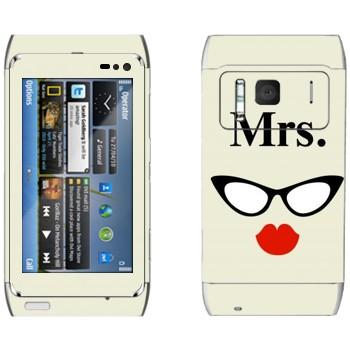 Виниловая наклейка «Миссис» на телефон Nokia N8