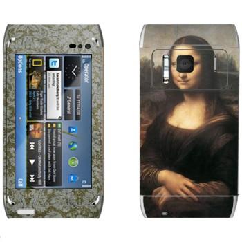 Виниловая наклейка «Мона Лиза - Леонардо да Винчи» на телефон Nokia N8