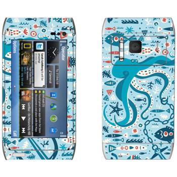 Виниловая наклейка «Морская жизнь» на телефон Nokia N8