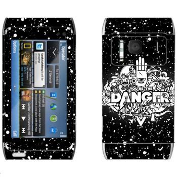 Виниловая наклейка «Надпись You are the Danger» на телефон Nokia N8