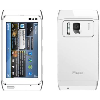 Виниловая наклейка «Наклейка под белый iPhone 5» на телефон Nokia N8